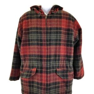 Vintage Woolrich Coat Jacket Womens Plaid Wool